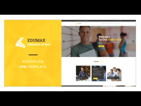 EduMax : Education & Courses HTML Template - Site Templates Download ...