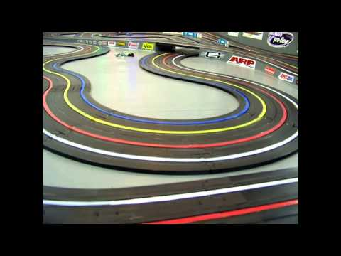 HO Slot Car Racing 4 Lane Setup