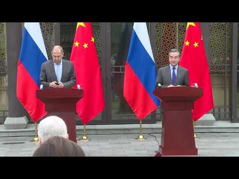 Пресс-конференция С.Лаврова и Ван И, Гуйлинь, 23 марта 2021 года