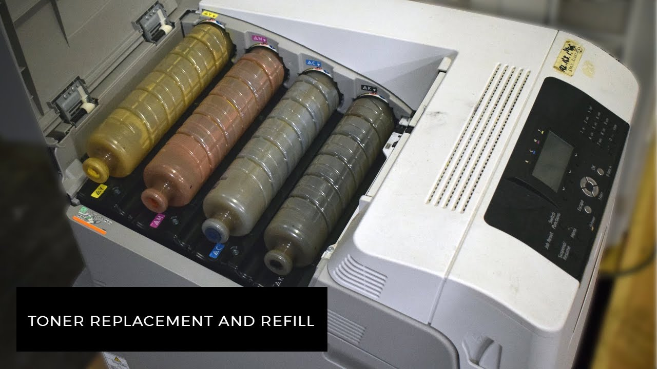 How to refill and replace toner in a Ricoh SP C440 | FotoCeramic