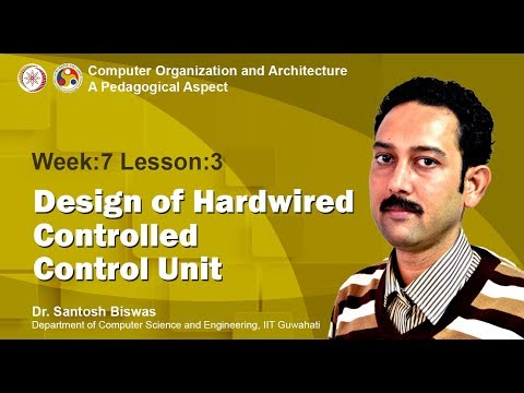 COA [Module 03 - Lecture 06]: Design of Hardwired controlled Control Unit