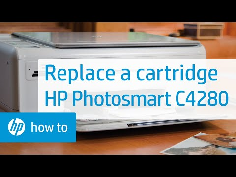 replacing a cartridge hp photosmart c4280 all in one printer youtube rh youtube com HP Photosmart C4280 Installation hp photosmart c4280 service manual download