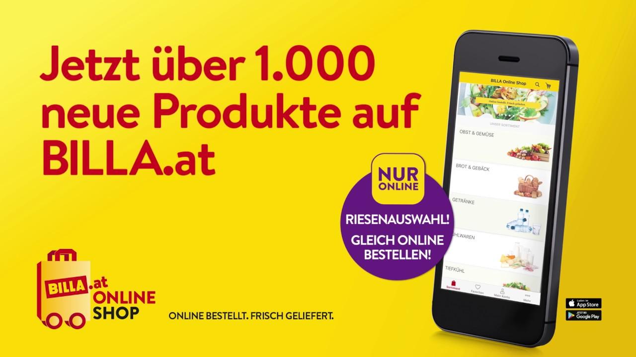 BILLA Online Shop - Jetzt über 1000 neue Produkte auf BILLA.at - YouTube