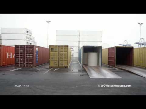 Goods being transferred into containers for shipping BS0366