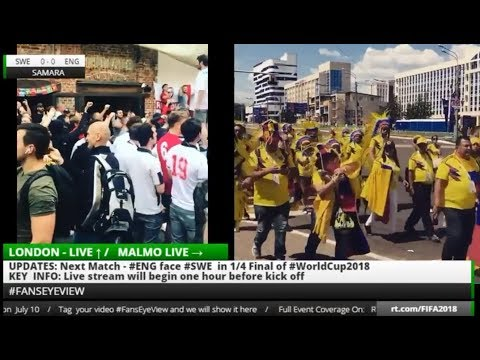World Cup 2018: Fans Eye View RUSSIA v CROATIA + ENGLAND/SWEDEN LIVE FAN REACTION (LIVE & TAPE)