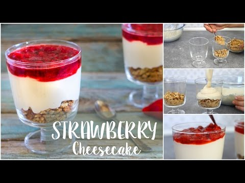 NO BAKE STRAWBERRY CHEESECAKE | EASY AND QUICK DESSERT RECIPE | 5 MINUTE 5 INGREDIENTS ONLY |