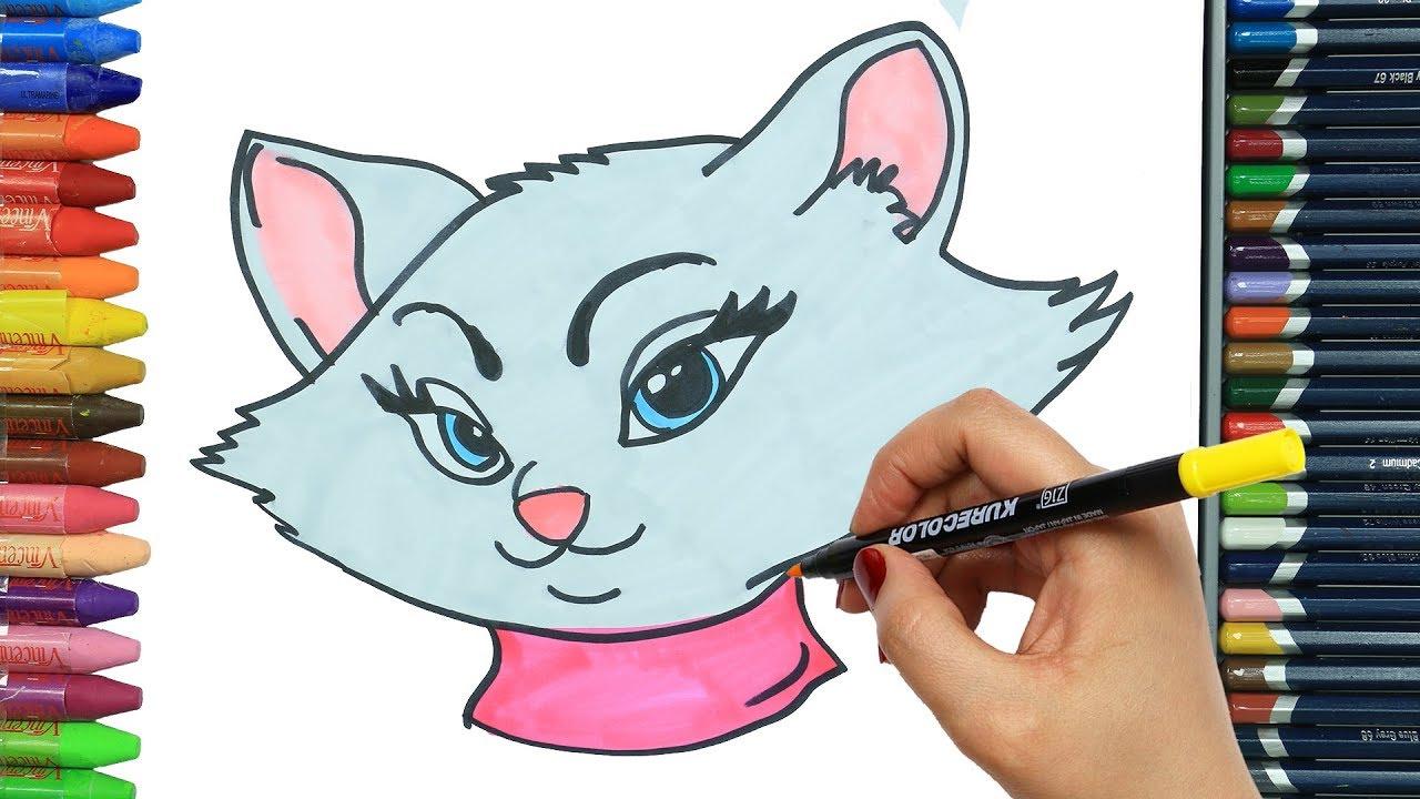Cómo Dibujar Y Colorear Gato Dibujos Para Niños Youtube