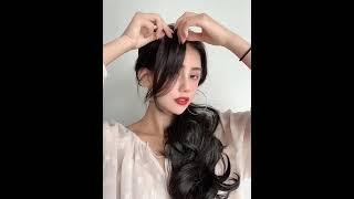 여자옆머리가발 앞머리 부분형 똑딱이 2피스세트 100%…