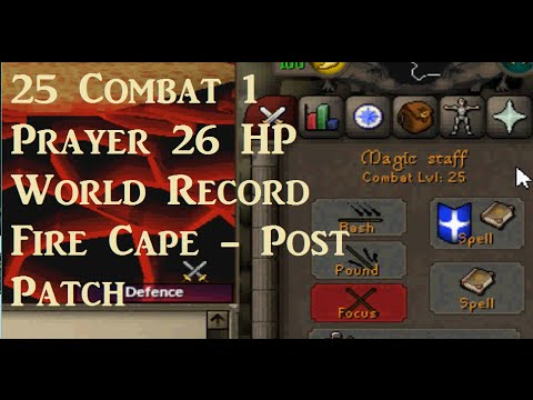 25 Combat 1 Pray 26 Hp Fire Cape - Record (Rending / Post Patch)