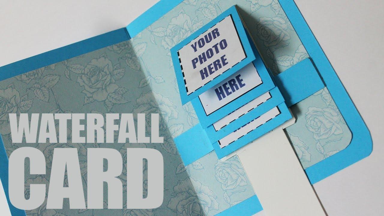 How to make waterfall card easy - YouTube