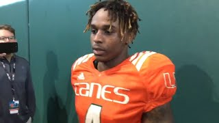 Gifted Hurricane WR Jeff Thomas speaks publicly on why he returned to UM from Illinois
