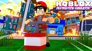 ROBLOX - DESTROYING ROBLOX IN THE DESTRUCTION SIMULATOR!!