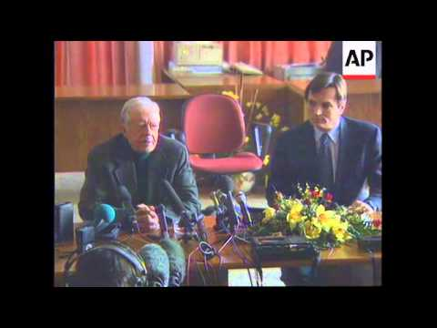 CROATIA: JIMMY CARTER ARRIVES IN ZAGREB TO BEGIN PEACE MISSION