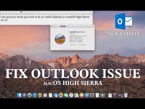 Fix Outlook Issue on macOS High Sierra - YouTube