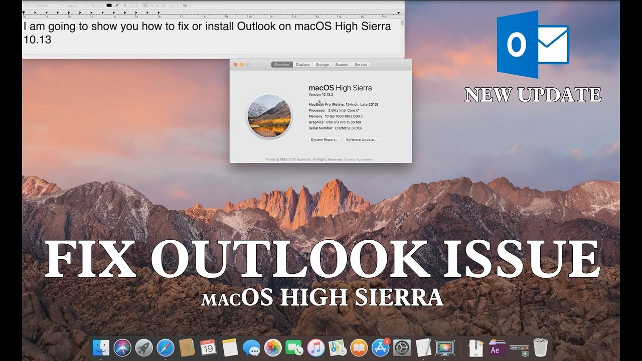 microsoft outlook for mac os high sierra