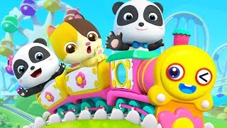 きかんしゃに乗ろう★遊園地で楽しもう | のりものの歌 | 赤ちゃんが喜ぶ歌 | 子供の歌 | 童謡 | アニメ | 動画 | ベビーバス| BabyBus