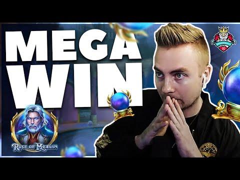 MEGA BIG WIN on RISE OF MERLIN by KONGEBONUS