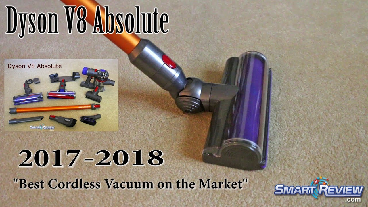 dyson 2017 dyson v8 absolute cordless vacuum demo best cordless on the market smart review. Black Bedroom Furniture Sets. Home Design Ideas