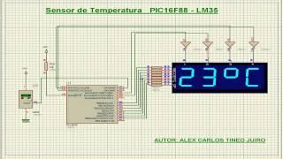 Sensor  Temperatura  LM35  PIC16F88