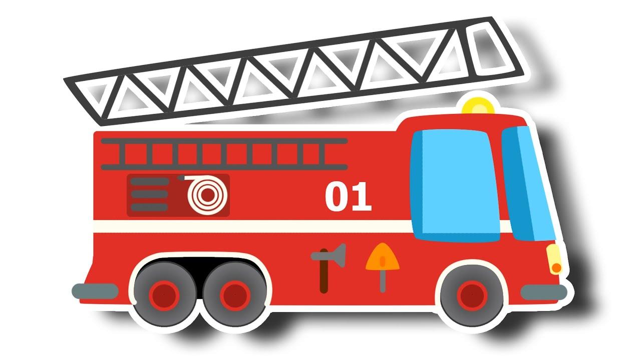 Детские картинки пожарная машина, село картинки мишка