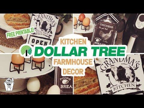 DIY DOLLAR TREE FARMHOUSE KITCHEN DECOR! | DIY KITCHEN DECOR |Magic Chef MCAF26DB