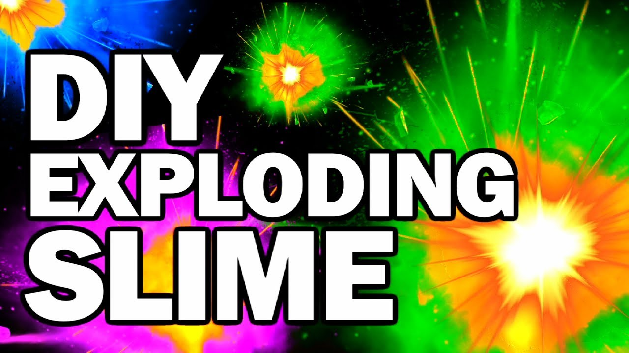 DIY Exploding Slime - Collab FAIL!!! w/CRH - Man Vs Slime #2