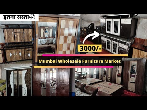 Mumbai Wholesale Furniture Market Starts @ 3000rs || CupBoard & Tv Unit Wide Variety😱😱😱