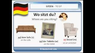 Practice your German - Things you can sit on - Learn German with Julia - Practice your German