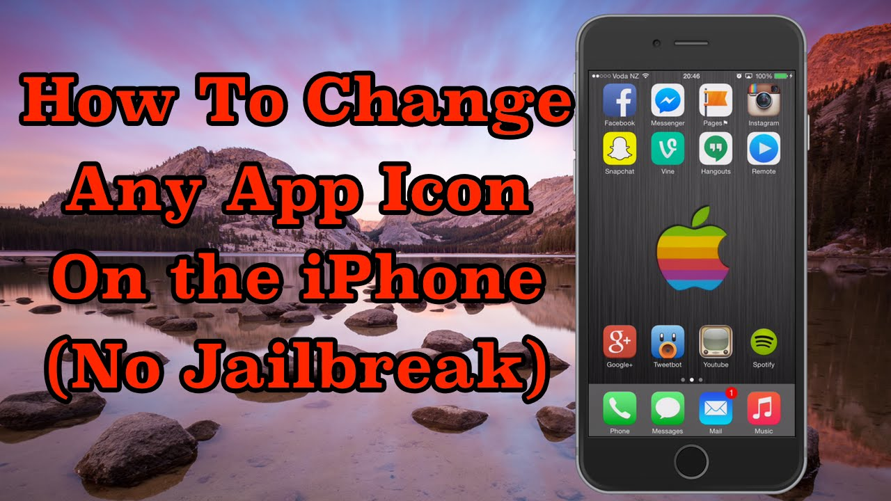 How to change any app icon on the iphone no jailbreak for Apps to change photos