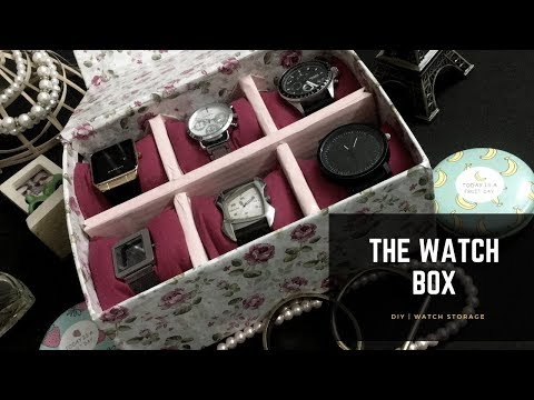 DIY | WatchBox From Scratch | Store Your Watches in Style | Home Decor | Watch Storage