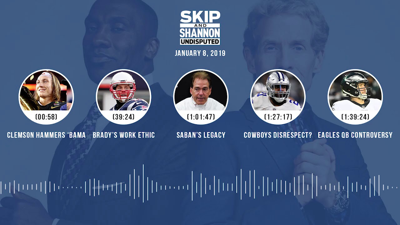 UNDISPUTED Audio Podcast (01.08.19) with Skip Bayless, Shannon Sharpe & Jenny Taft   UNDISPUTED