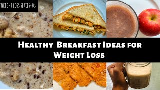 Sharing 5 healthy breakfast recipes that helps in weight loss 1. boiled egg sandwich 2. apple oats smoothie 3. dosa 4. oziva protein shake 5. ragi malt ...