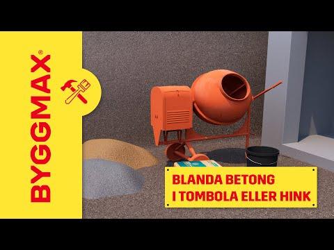 blanda betong med borrmaskin
