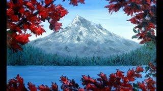 Mt Hood Original Painting Demonstration - Time lapse