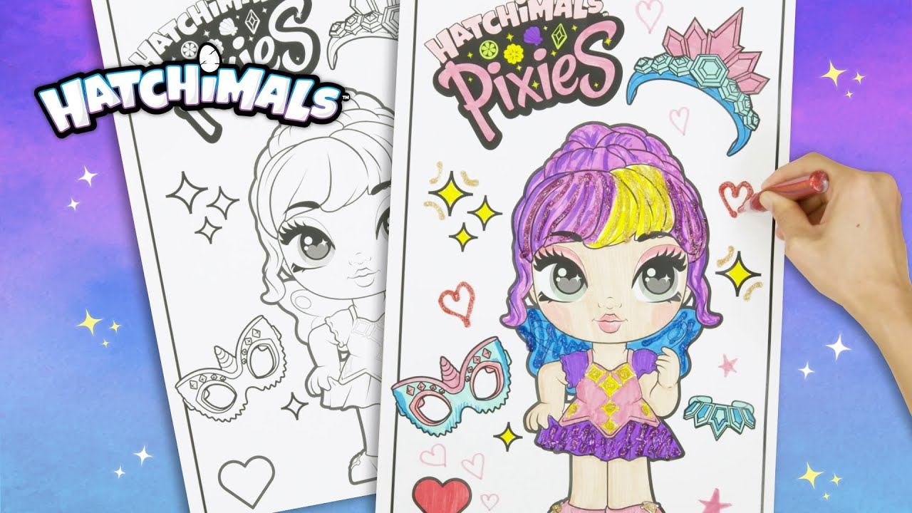 - Color & Glitter Your VERY OWN Hatchimals PIXIES! 💖Crystal Cassie