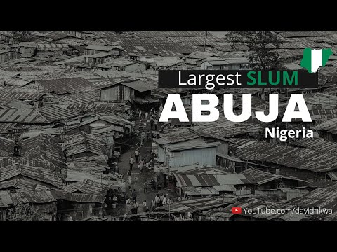 A drone Shot of the Largest Slum in Nigeria Capital City, Abuja