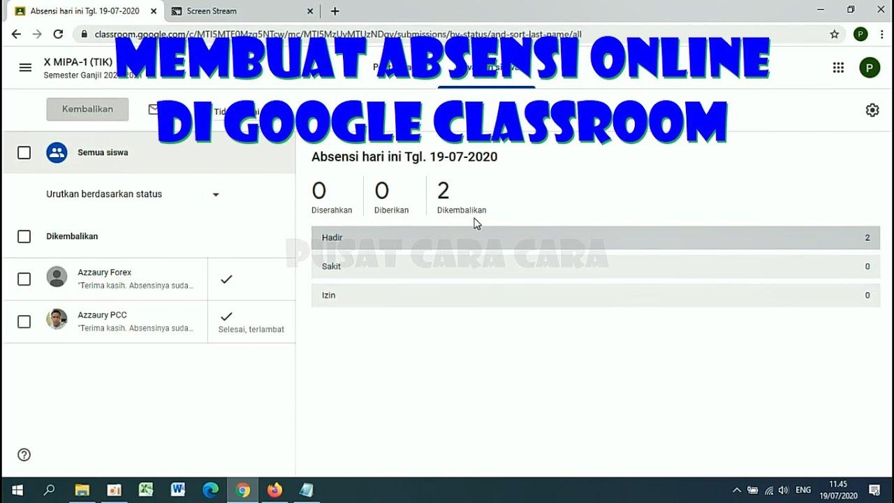 Cara Membuat Absensi Online di Google Classroom - Tutorial Google Classroom PART-3