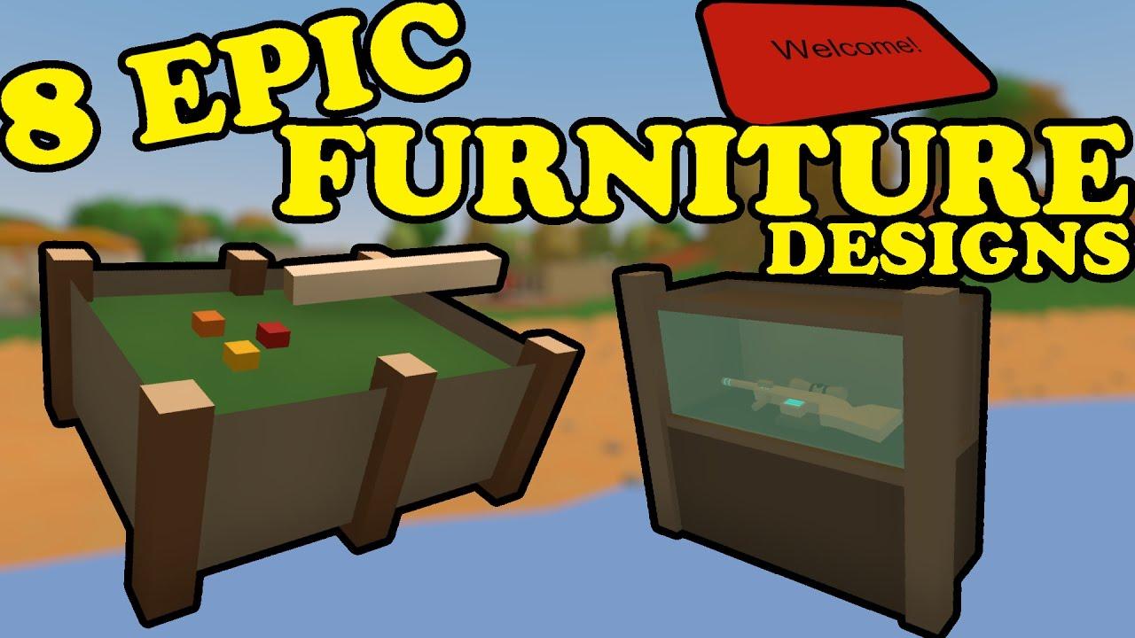 Unturned - 8 Cool Furniture Designs - YouTube