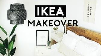 THE ULTIMATE BEDROOM MAKEOVER + IKEA HACKS 2019   Nastazsa