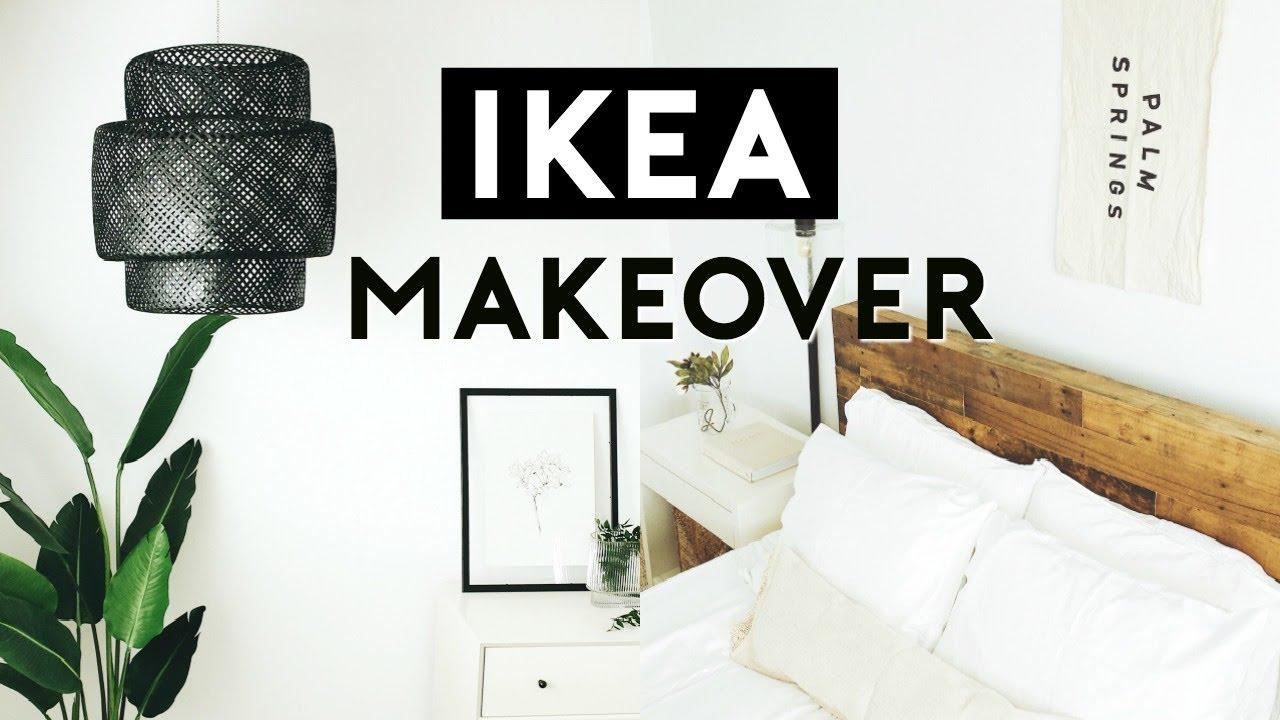 THE ULTIMATE BEDROOM MAKEOVER + IKEA HACKS 10  Nastazsa