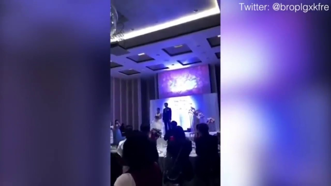 Groom plays video of cheating bride in bed with another