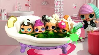 LOL Surprise Dolls Sleepover at Pranksta's House💤Bedtime Routine✨ Friends 😵Barbie 💗Toys & Dolls