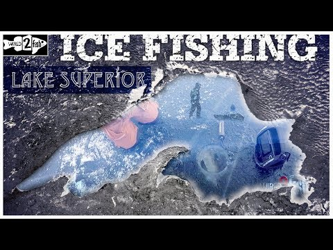 Ice Fishing The LARGEST Lake In The World