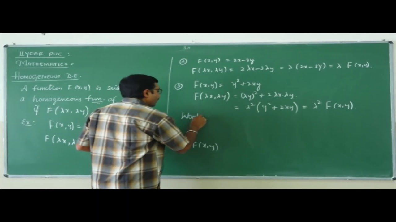 IIPUC   Mathematics  Differential equations-07
