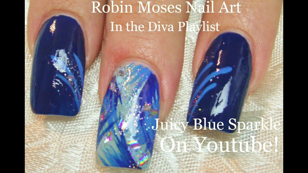 3 nail art tutorials diy easy nail design for beginners 3 nail art tutorials diy easy nail design for beginners long nails blue ice youtube prinsesfo Choice Image