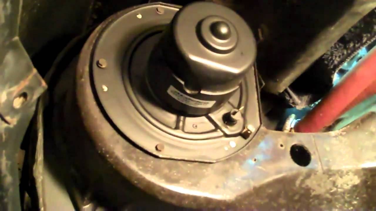 Chevy Chevelle Malibu 307ci ORIGINAL Heater Blower Motor Install  YouTube