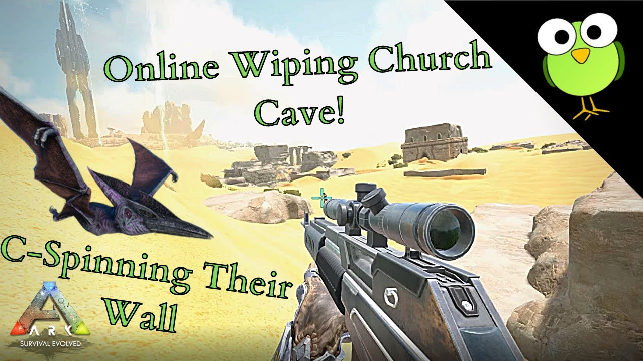 Online Wiping Church Cave | Ark: Survival Evolved | C-Spin OP! | Dominating With A Longneck! thumbnail