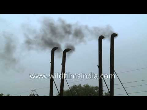 Generator chimney stacks belch black smoke into Delhi's air