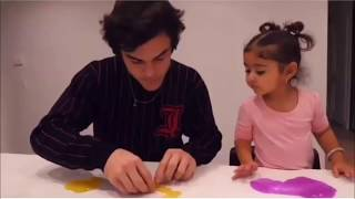 Elle play with the Dolan twins *she love slime*