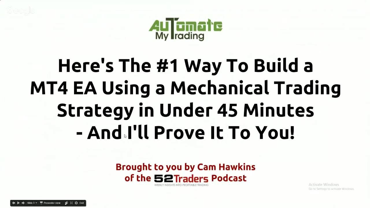 Fxdreema Ea Builder Course Osma Trading System Webinar Insight